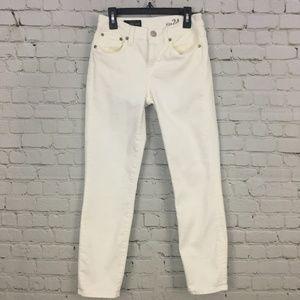 J. Crew Jeans White Copper Reid Skinny
